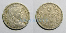 Colombia 5 pesos p/m 1907